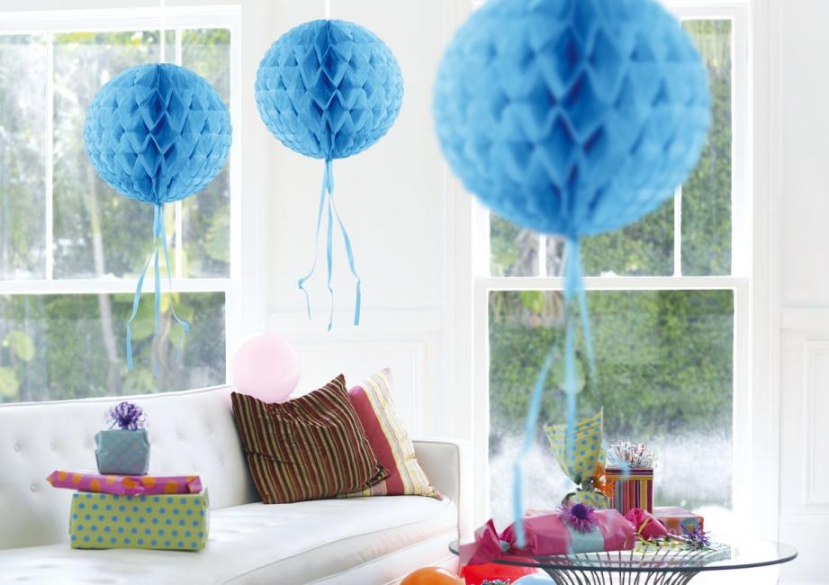 Decoratie bol baby lichtblauwe versiering knuffels shop